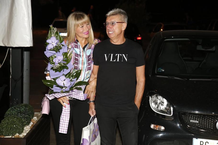 Saša Popović sa suprugom