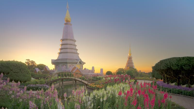 Pagoda w parku narodowym doi Inthanon, Chiang Mai