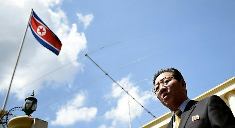 North Korean ambassador Kang Chol criticised the Malaysian police investigation into the killing of Kim Jong-Nam, saying it was politically motivated to frame Pyongyang