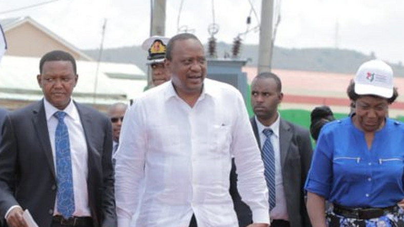 President Uhuru Kenyatta received in Masii for the launch of NIIMS registration (PSCU)