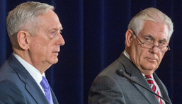 US Secretary of Defense Jim Mattis (L) and US Secretary of State Rex Tillerson met with top Chinese officials, with North Korea high on the agenda