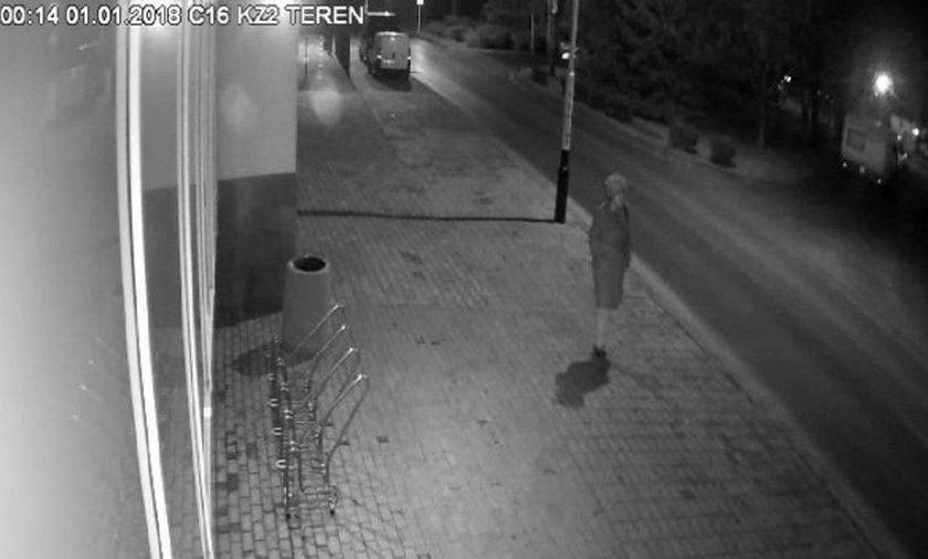 Kamera zarejstrowała zaginioną na ul. Podwisłocze w Rzeszowie