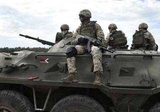 Rosyjskie wojska rozmieszczone przy granicy z Azerbejdżanem