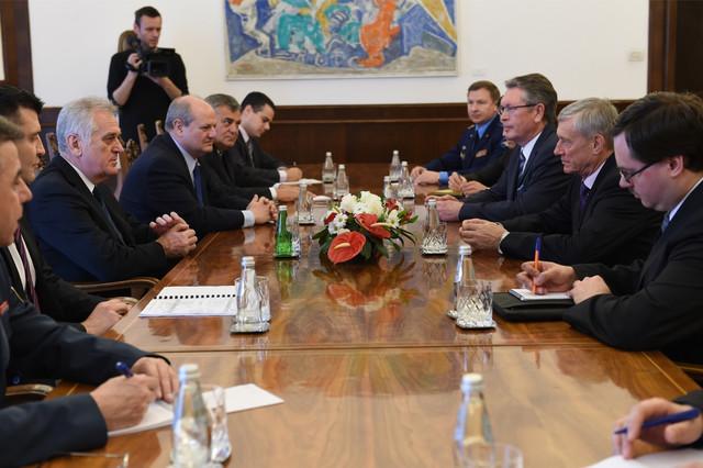 Tomislav Nikolić sa generalnim sekretarom ODKB na današnjem sastanku