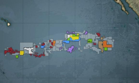 Klarion Kliperton zona u Pacifičkom okeanu