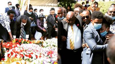 Jeff Koinange's elder Brother laid to rest (Photos)