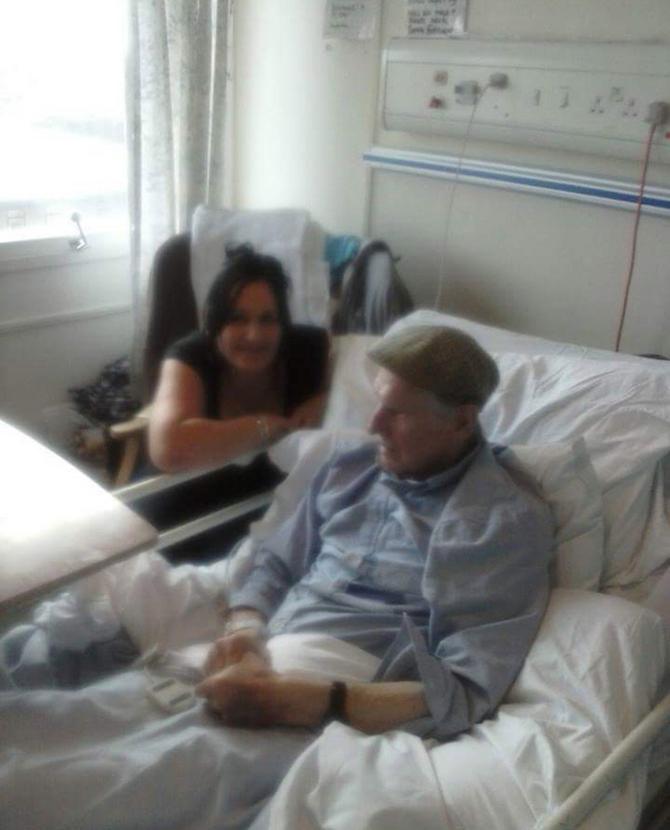 Sa ocem u bolnici