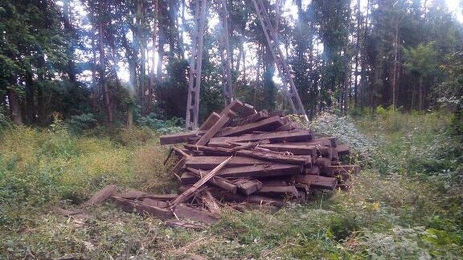 Porzucane podkłady kolejowe w powiecie cieszyńskim