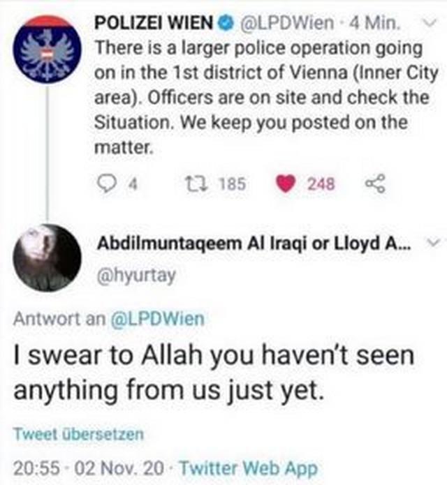 Tviter, pretnje