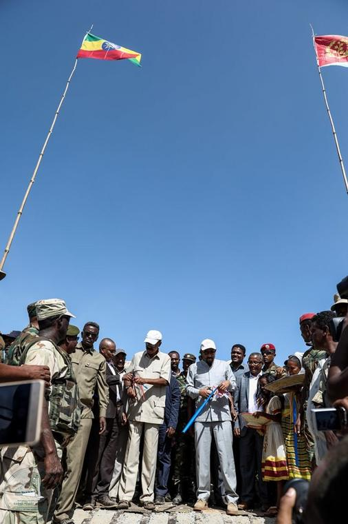 Officially opening of the Oumajir-Humera border (Twitter/PMEthiopia)