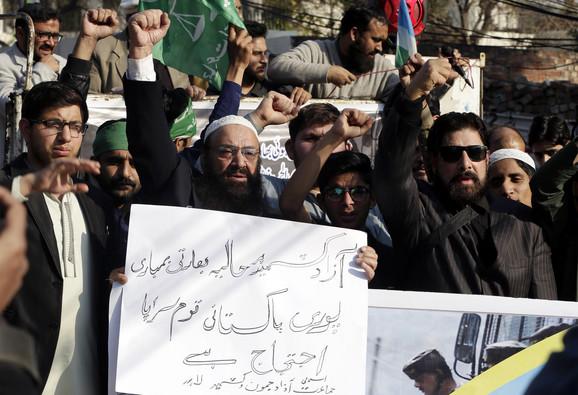 Pakistanci protestuju zbog napada Indije