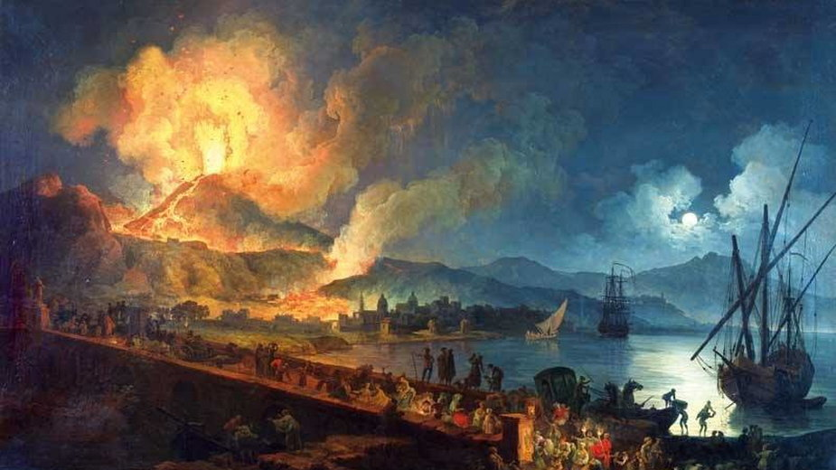 Pierre-Jacques Volaire, Erupcja Wezuwiusza ok. 1782 r.