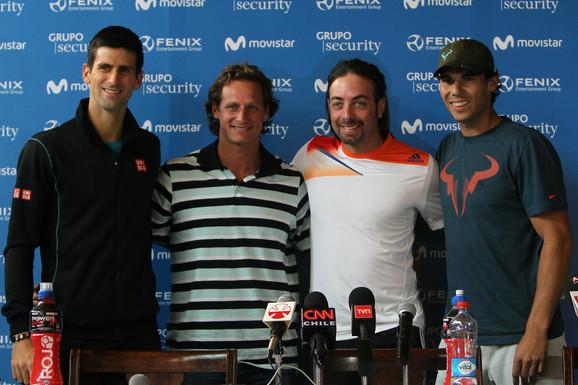 Novak Đoković, David Nalbandijan, Nikolas Masu, Rafael Nadal