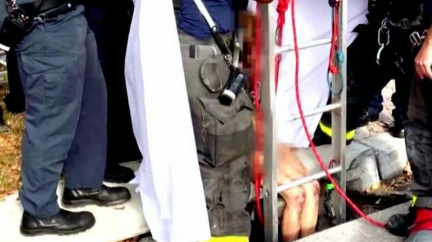 Naga kobieta wyciągnięta z kanału. Spędziła tam trzy tygodnie
