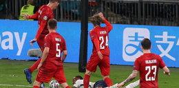 Anglik nie pierwszy raz po mistrzowsku udawał faulowanego. Oszust Sterling popsuł Euro