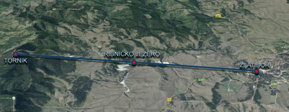 Trasa kojom će proći zlatiborska gondola