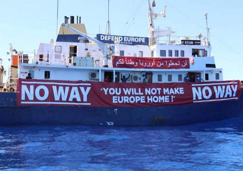 A vessel aiming to 'defend' Europe from migrants