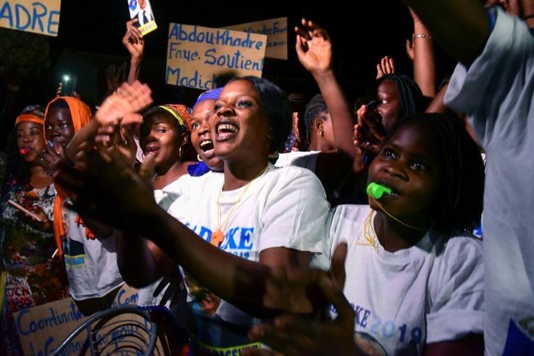 Senegalese voters celebrate