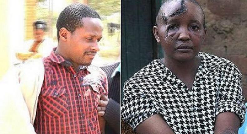 Stephen Ngila and his brutalised wife, Jackline Mwende