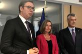 Aleksandar Vučić Federika Mogerini Hašim Tači