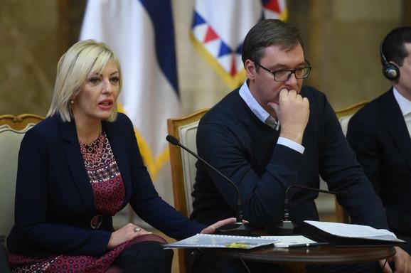 Jadranka Joksimović i Aleksandar Vučić