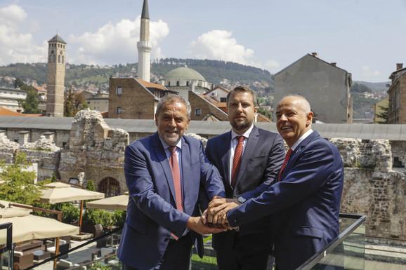 Radojičić nedavno na trilateralnom sastanku sa gradonačelnicima Zagreba i Sarajeva