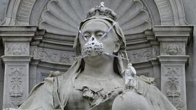 Maski gazowe na najsłynniejszych posągach w Londynie