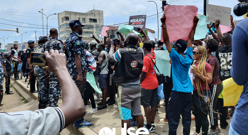 #EndSARS protesters have been holding nationwide demonstrations for over a week to condemn police brutality (image used for illustration)