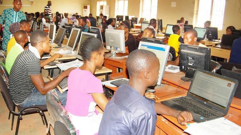 UTME candidates during exam.