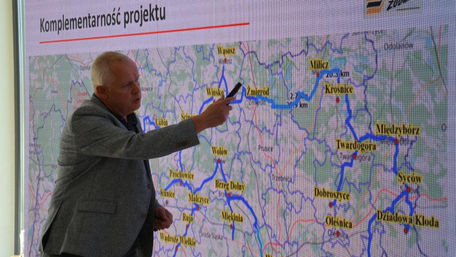 Prezentacja trasy Dolnośląskiej Autostrady Rowerowej