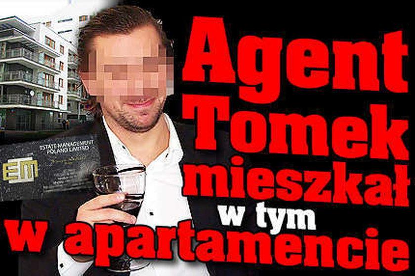 Agent Tomek mieszkał w tym apartamencie