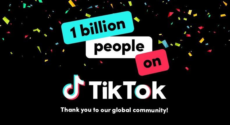 TikTok records one billion monthly users. (TikTok)