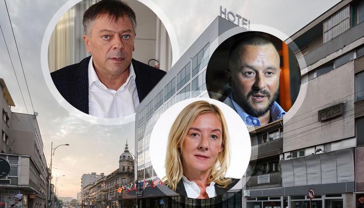 Toncev Beckovic Ivanovic kombo foto RAS Aleksandar Dimitrijevic, Zoran Loncarevic, Milan Ilic, Promo New City Hotel