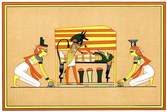 Izida i Neftida drevne narikače