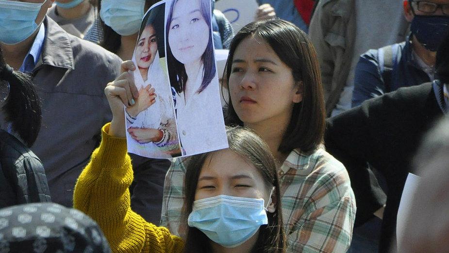 Demonstracja po śmierci Aizady