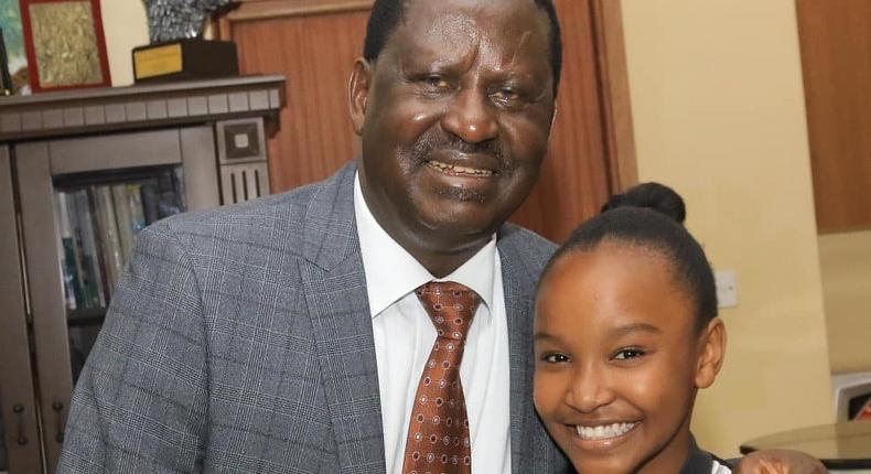 Wendy Waweni with Raila Odinga (Instagram)