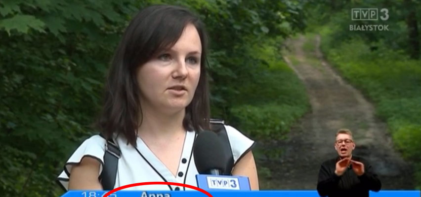 """Wpadka TVP i Lasów Państwowych. """"Turystka Anna"""" okazała się pracownicą Regionalnej Dyrekcji LP"""