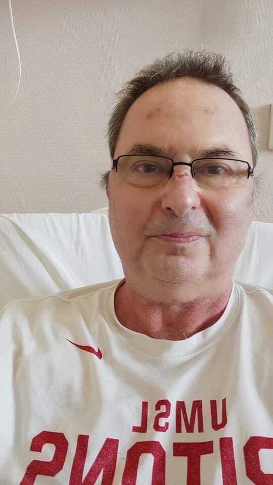 Ez a selfie az 59. kórházi napon készült / Fotó: Szörényi Péter