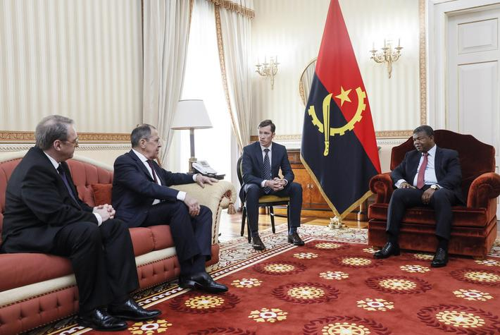 Russia's Minister of Foreign Affairs Lavrov visits Angola