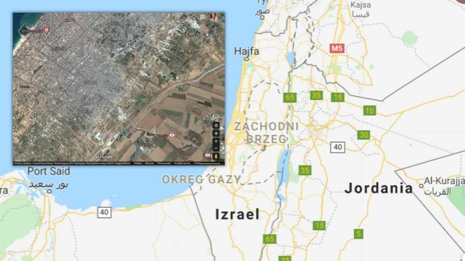 Strefa Gazy na mapie