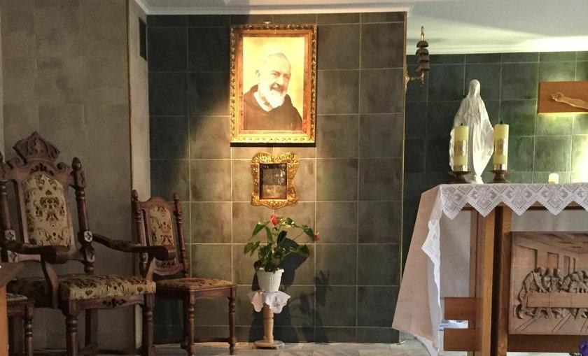 Kaplica w szpitalu w Przemyślu, skąd skradziono relikwiarz