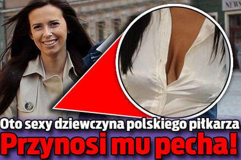 Sexy dziewczyna polskiego piłkarza! Przynosi mu pecha...