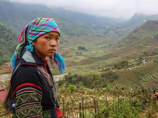 Ethnic group Hmong in Sapa area, Vietnam