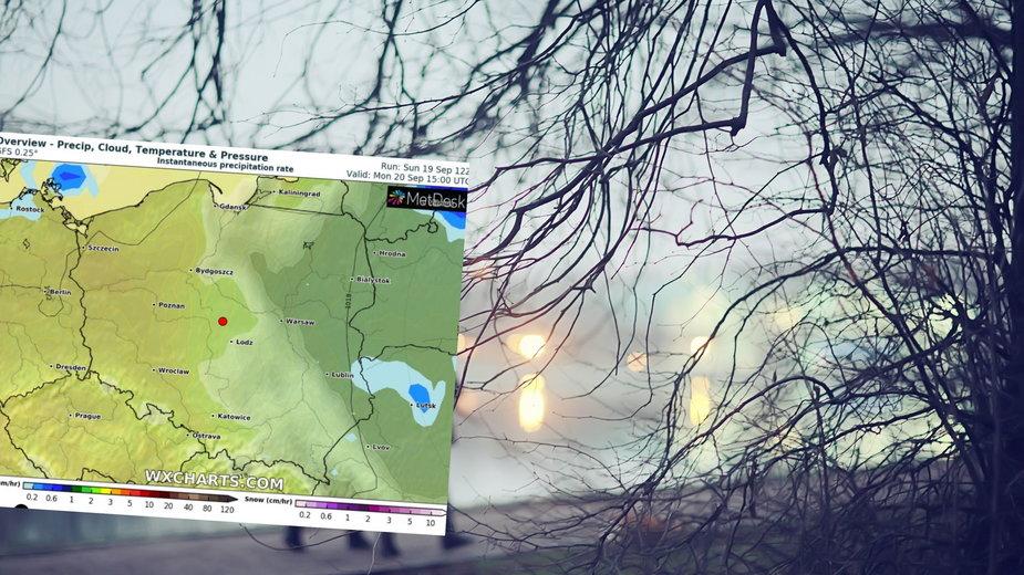 Prognoza pogody na poniedziałek 20 września