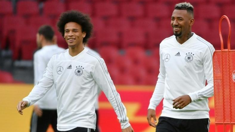 Jerome Boateng (R) with Leroy Sane was a key part of the Germany team that flopped in Russia