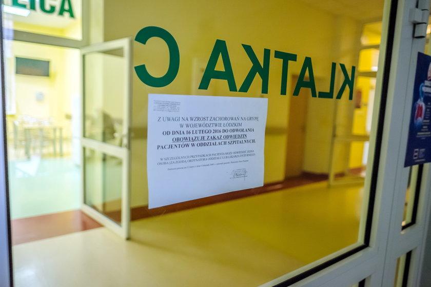 Szpitale zamknięte dla odwiedzających z powodu grypy