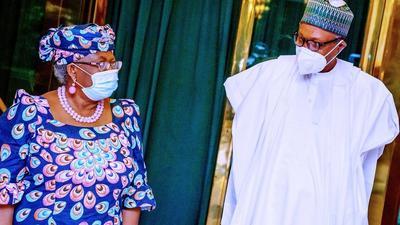 President Buhari congratulates Okonjo-Iweala for 'bringing joy and honour to Nigeria'