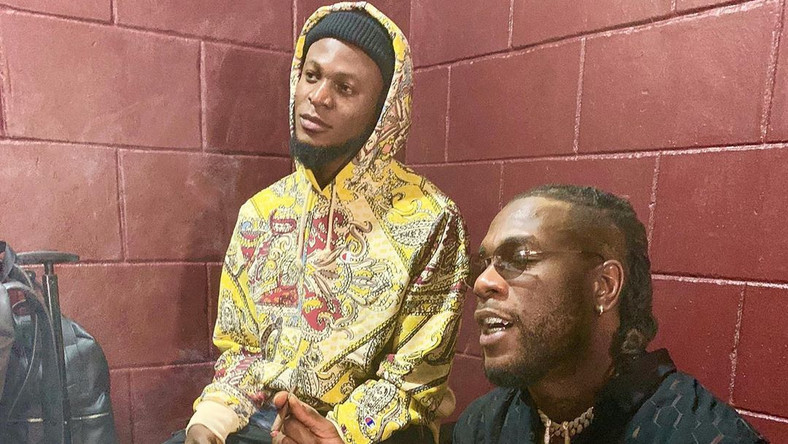 Burna Boy with his regular collaborator, and music producer, Kel P. (Instagram/Kelp_amba)