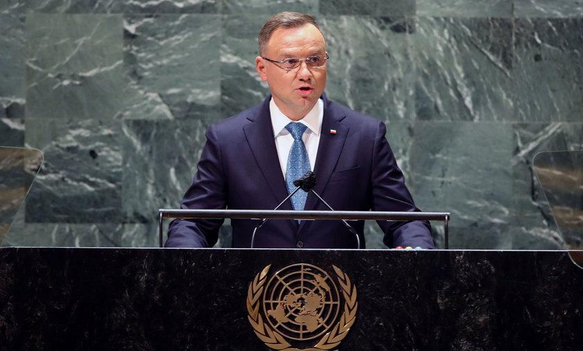 Andrzej Duda na Zgromadzeniu ONZ w Nowym Jorku.