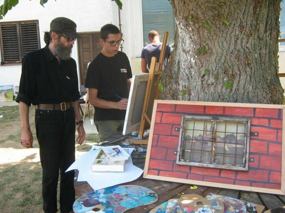 Galerija u zatvoru: Slikar Miša Dudić sa polaznicima kolonije